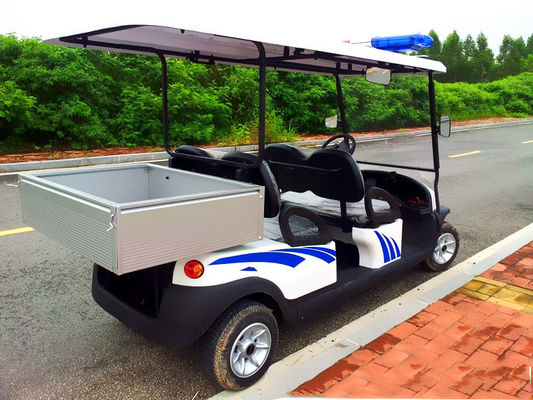China Battery Powered Custom Electric Golf Carts , Electric Patrol Car 8 Hours Charging distributor