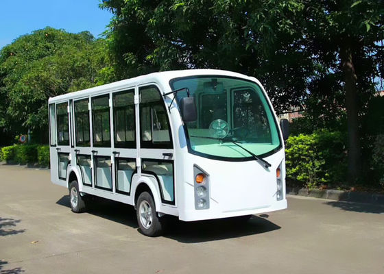 China Electric Sightseeing Cart For 14 Passenger AC System With Door distributor