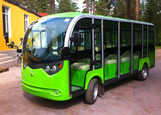 China 14 Seats Electrical Shuttle Bus With Door distributor