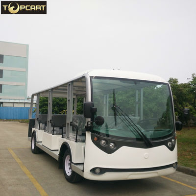 China 23 Seats Electric Sightseeing Bus , Battery Powered Electric Shuttle Bus factory