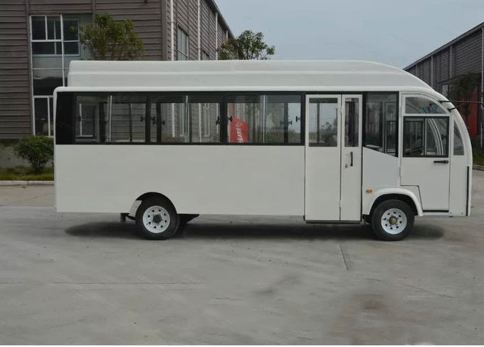 Electric Bus Fully Enclosed Golf Carts With 22 Seats , Curtis 400 A Controller