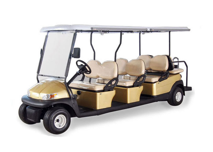 AC System Electric 12 Seater Golf Cart with Solar Panel , 45km Maximum Travel Distance