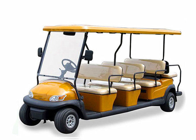 City Tourist 12 Seater Golf Cart With Flip - Flop Backseat , CE Approved