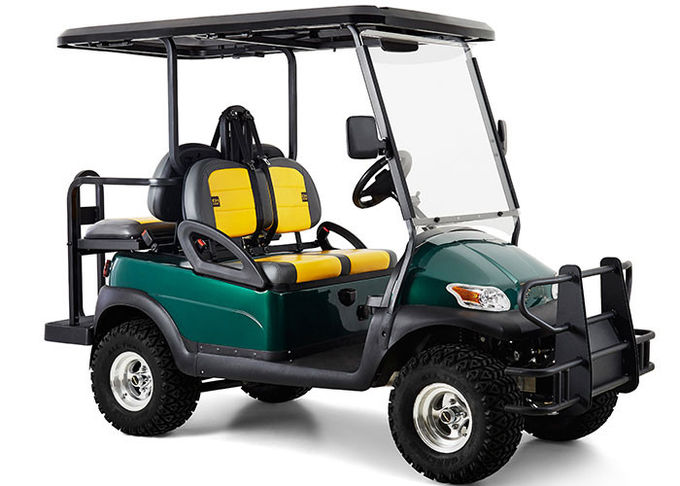 Hunting 4 Seat Multi Passenger Golf Carts With Big Steel Front Bumper For Off Road