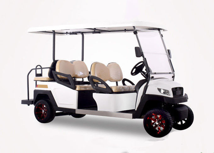 48V White 6 seater electric golf cart mini club car golf cart electric golf buggy car